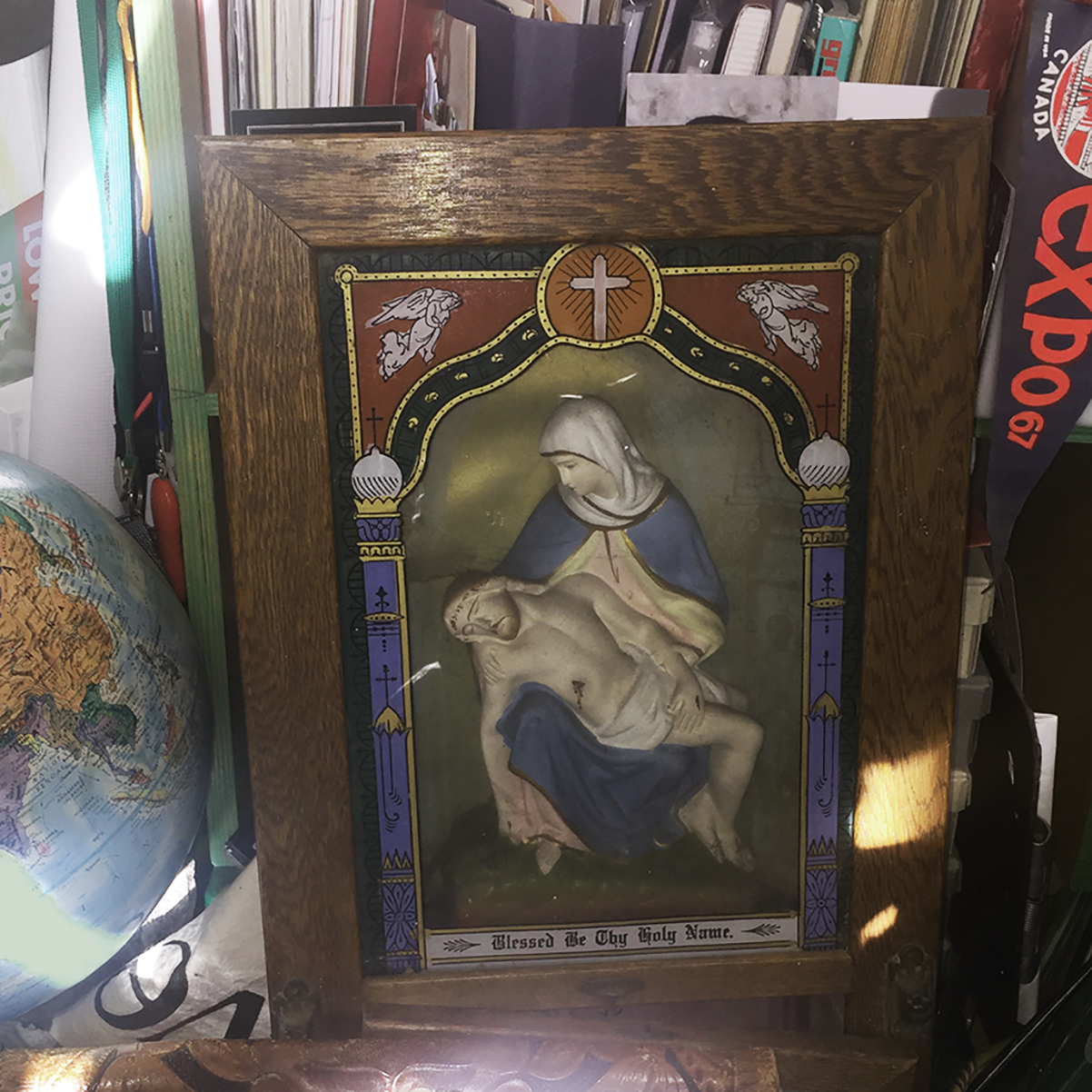Kennedy home altar for travelling priest